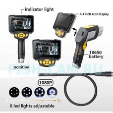 Технический Эндоскоп автомобильный Тритон 1080P кабель 1 метр монитор 4.3 дюйма
