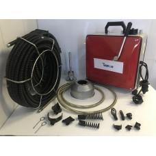 Машина для прочистки канализации GQ-150-2200W пружины 16+22 мм