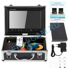 Камера для рыбалки 12ИК+12белых светодиодов Fishcam 1000TVL 9 ДЮЙМОВ с записью, кабель кевлар 30 метров