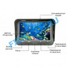 Подводная камера для рыбалки Пиранья 4.3-2cam с ФУНКЦИЕЙ ЗАПИСИ.Карта памяти 8 гб