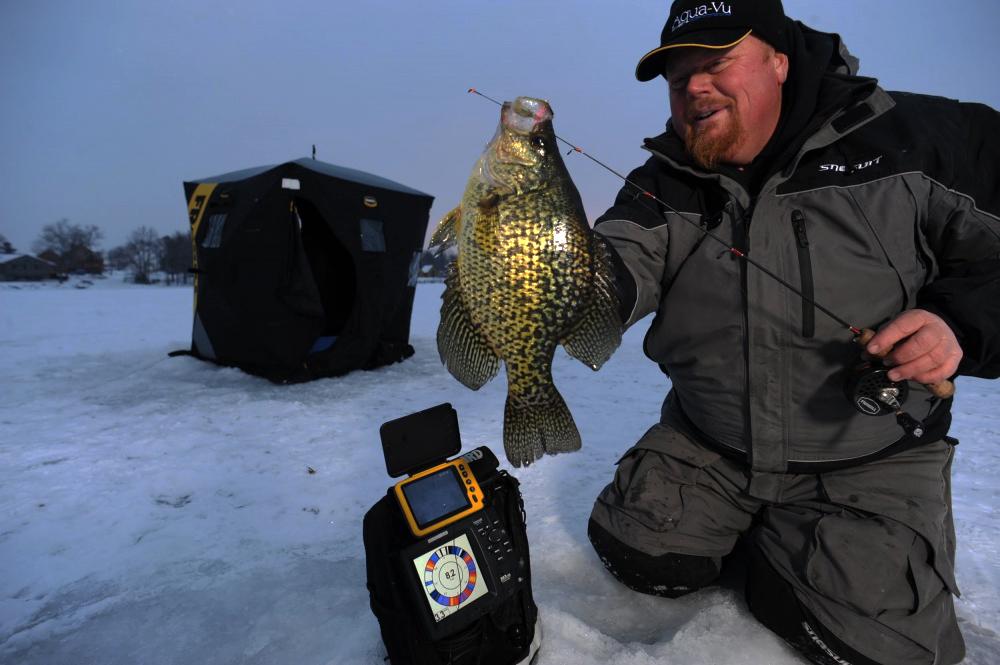Зимняя рыбалка с видеокамерой